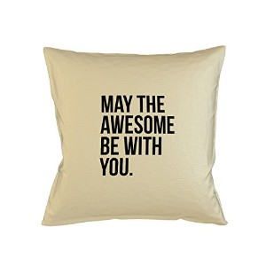 May The Awesome Be With You Sofa ベッドホームデコールクッション 枕カバー・ピローケース ベージュ