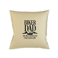 Biker Dad Just Like A Normal Dad Except Much 素敵er Father Gift Sofa ベッドホームデコールクッション 枕カバー・ピローケース ベージュ