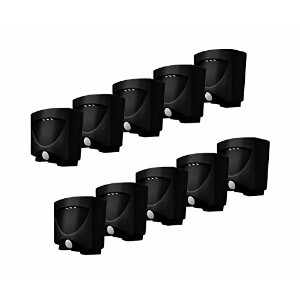 MAXSA Innovations 41042 Dark Bronze Battery-Powered Motion-Activated LED Outdoor Night Light, (Pack...
