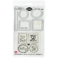 High Quality Framelits Die Set 9PK with Stamps - Word Labels by Stephanie Barnard