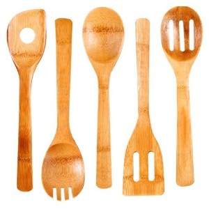 High Quality 5-Piece Bamboo Kitchen Tool