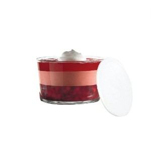 Anchor Hocking Presence Footless Trifle with White Plastic Lid [並行輸入品]