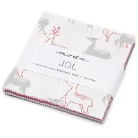 JOL Charm Pack By Wenche Wolff Hatling of Northern Quilts; 42 - 5 Precut Fabric Quilt Squares by...