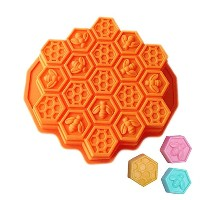 New Arrival 19-Cavity Mini Silicone Bee Honeycomb Mold Mould for Homemade Soap, Cake, Chocolate,...