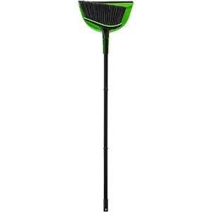 High Quality Neon Broom with Dustpan, Black/Green