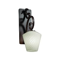 Justice Design Group Lighting FSN-8578-22-WEVE-DBRZ Victoria One Light Wall Sconce, Medium by...
