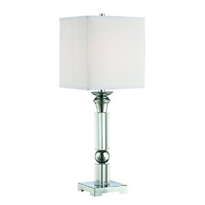 Lite Source LS-22347 Nicolette Table Lamp with Crystal Dcor, Chrome by Lite Source