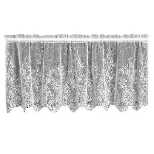 High Quality Floret 60-Inch Wide by 30-Inch Drop Tier, White