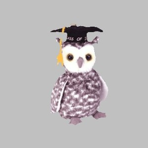TY Smart the 2001 Graduation Owl Beanie Baby
