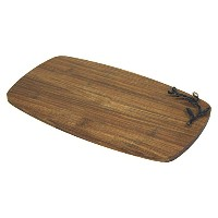 Simply Bamboo Kona BerriesアーティザンCrafted炭化竹チーズボードとServing Tray , Large