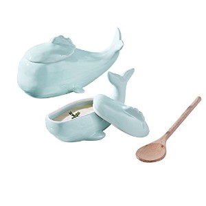 2つの会社51190 Once In A Whale Serving Dishes ( Set of 2 )、アクア
