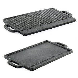 ProSource Kitchen hg-1101-griddle Professional Heavy Duty Reversible Double Burner Cast Iron Grill...