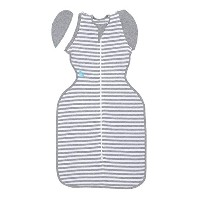 Love To Dream Swaddle UP- 50/50- Gray Stripe- Medium 13.2- 18.7 lbs by Love to Dream [並行輸入品]