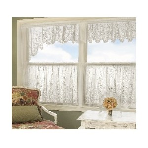 High Quality Floret 68-Inch Wide by 32-Inch Drop Swag Pair, White