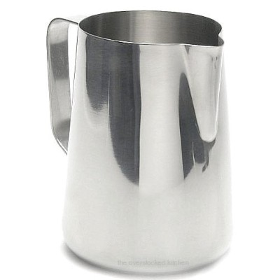 New Large 66 oz. (Ounce) Espresso Coffee Milk Frothing Pitcher, Steaming Frothing Pitcher,...