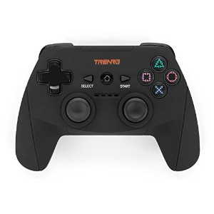 Trenro PS3 Wireless Controller with Soft Touch Grip, Black [並行輸入品]