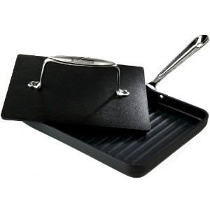 All-Clad 39902 Hard Anaodized Nonstick Panini Pan with Press / Cookware, Silver by All-Clad