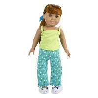 Springfield Collection Pajama Outfit-Green Top and Dot Pants W/Slippers (並行輸入品)