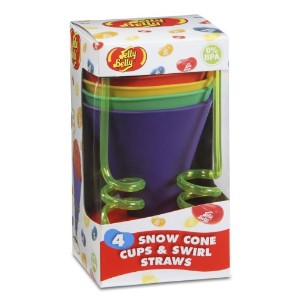 Jelly Belly Silicone Cups and Swirl Straws [並行輸入品]