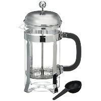 Bruntmor French Press Coffee and Tea Maker with 3 Bonus Filter Screens, 34 oz, Stainless Steel ...