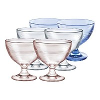 Duralex Gigogne Ice Cream Cup Set Includes (Set of 2), 8.75 oz, Pink and Blue [並行輸入品]