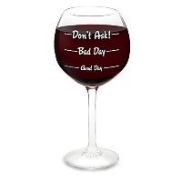 BigMouth Inc 'How Was Your Day?' Wine Glass [並行輸入品]