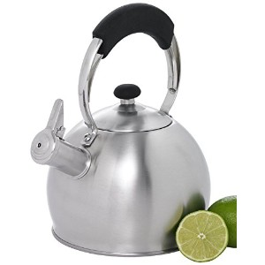Creative Home 72221 Galaxy Stainless Steel Whistling Tea Kettle, 2.6-Quart [並行輸入品]