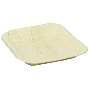 PacknWood Palm Leaf Square Plate, 6.3' x 6.3' (Case of 100) [並行輸入品]