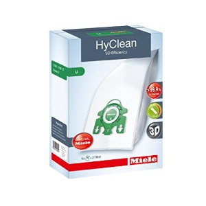 Miele Hyclean 3d UシリーズSMSバッグとフィルタセットPack of 4Plus 2