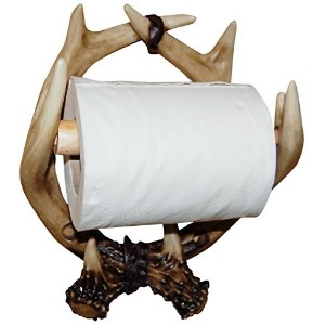 Hickory Manor House Deer Antler TP Holder Hand Painted Decorative Accessory [並行輸入品]