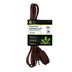 GoGreen Power GG-24806 16/2 6' Household Extension Cord - Brown [並行輸入品]