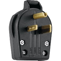 Cooper Wiring Devices S42-SP-L Commercial Grade Angle Vinyl Power Plug with 30/50-Amp, 250-Volt, 6...