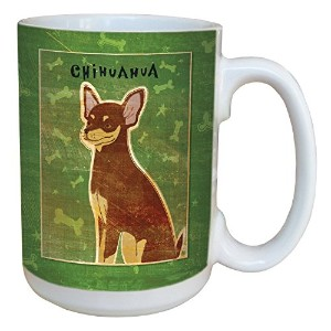Tree-Free Greetings sg43981 Chocolate and Tan Chihuahua by John W. Golden Ceramic Mug with Full...