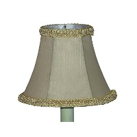 Lamp Factory A365-CRHEXTR A Ray of Light Cream Hexagonal with Braided Trim Mini Chandelier Shade....
