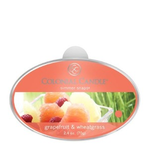 Colonial Candle Grapefruit and Wheatgrass Simmer Snaps [並行輸入品]