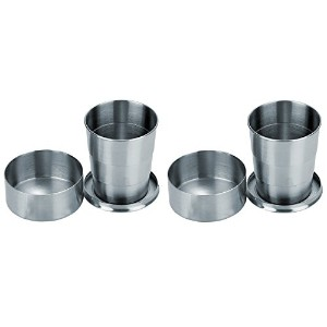 Visol Scope Stainless Steel Folding Shot Cup (2 Pack), 5 oz, Silver [並行輸入品]