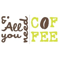 Crearreda 62124 All You Need Is Coffee Wall Quote Decals [並行輸入品]
