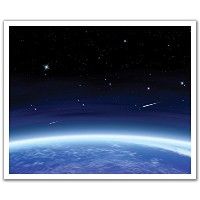 JP London POSLT2123 uStrip Lite Removable Wall Decal Sticker Mural Earth First Light Space Nasa, 24...