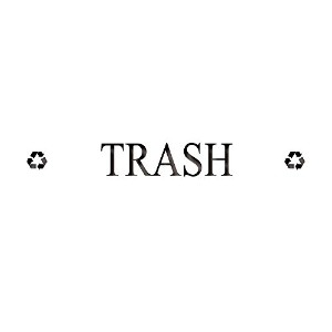 Rubbermaid Commercial Products FGDRD1 'Trash' Recycling Label [並行輸入品]