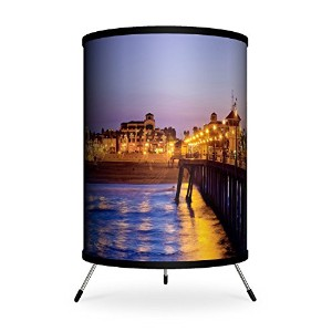 Lamp-In-A-Box TRI-FAR-SDHU6 Featured Artists - Sean Davey 'Huntington Pier 6' Tripod Lamp [並行輸入品]