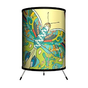 Lamp-In-A-Box TRI-FAR-CGBUT Featured Artists - Cole Gerst 'Butterfly' Tripod Lamp [並行輸入品]
