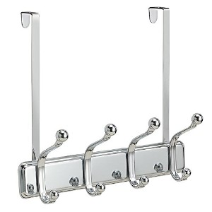 InterDesign York Lyra Over Door Rack 4, Chrome [並行輸入品]