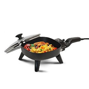MaxiMatic EFS-400 Elite Cuisine 7-Inch Non-Stick Electric Skillet with Glass Lid, Black [並行輸入品]