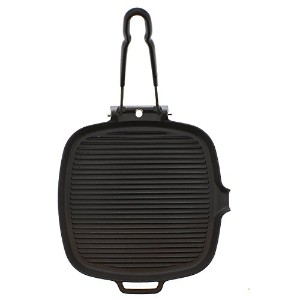 Chasseur 9-inch Square French Cast Iron Grill With Folding Handle [並行輸入品]
