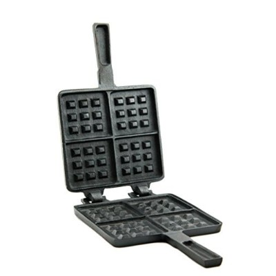 Useful UH-CI194 Old Fashioned Cast Iron Stove Top Waffle Iron by Useful.
