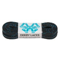 Black 84 Inch Waxed Skate Lace - Derby Laces for Roller Derby, Hockey and Ice Skates, and Boots ...