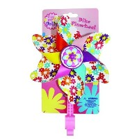 Bike Handlebar Pinwheel - Spinning Flower Pinwheel for Kid's Bicycle - Snaps on for Easy Attachment...