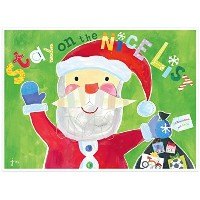 C.R. Gibson Gibby and Libby Holiday Placemat, Stay on The Nice List [並行輸入品]