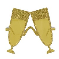 Glittered Champagne Glass Fanci-Frames Party Accessory (1 count) (1/Pkg) [並行輸入品]