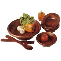 Lipper Cherry Collection 7-Piece Salad Set With 12-Inch Servers [並行輸入品]